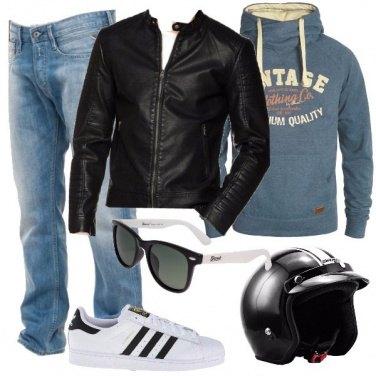 Outfit Un papà in moto
