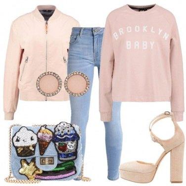 Outfit Plateau, felpa e bomber