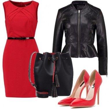 Outfit Il nero ed il rosso