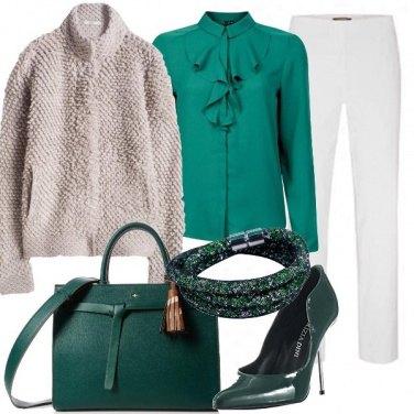 Outfit Elegantemente in verde