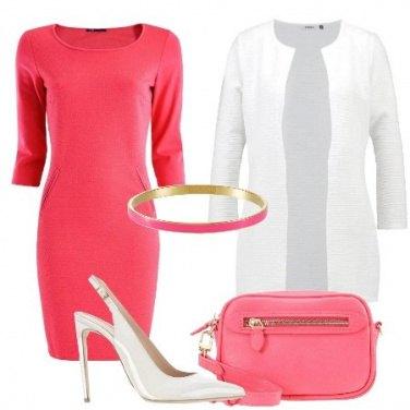 Outfit Tutta in rosa e bianco