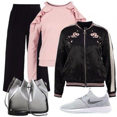 Outfit Rosa e balze