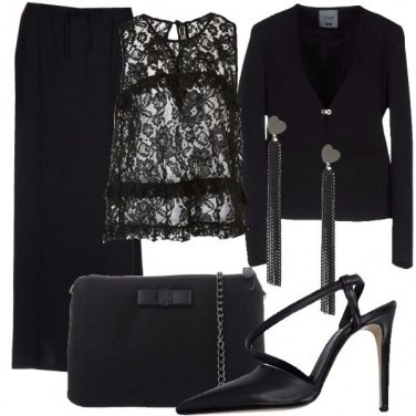 Outfit Pizzo trasparente