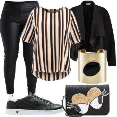 Outfit Comoda con le righe