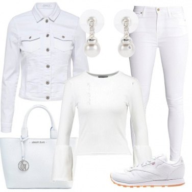 Outfit Bianco perla