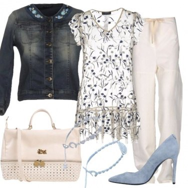 Outfit La blusa in tulle