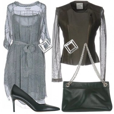 Outfit Doppie trasparenze in verde