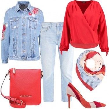 Outfit Rosa rossa