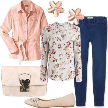 Outfit Pesco in fiore