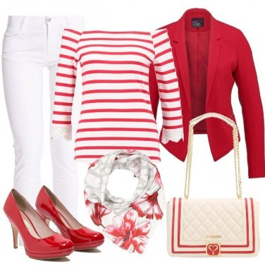 Outfit Un mix and match in stile marinaro