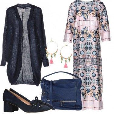 Outfit Caftano e mocassini