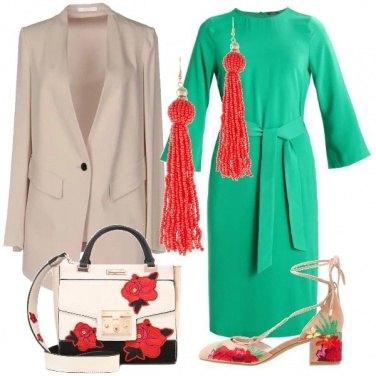 Outfit Fiori in un campo di menta