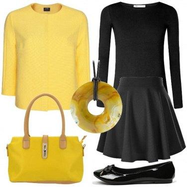 Outfit Il giallo e le ballerine