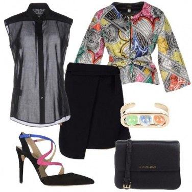 Outfit Una blusa trasparente