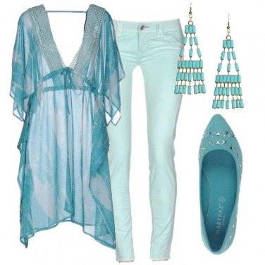 Outfit Con i colori del mare