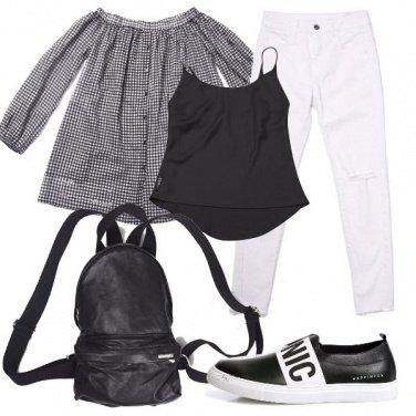 Outfit Un classico bianco e nero