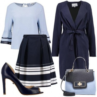 Outfit Azzurro polvere