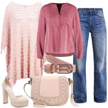 Outfit Boho nei toni del rosa