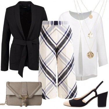 Outfit Il pantalone a scacchi