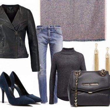 Outfit Mini borsa maxi sciarpa