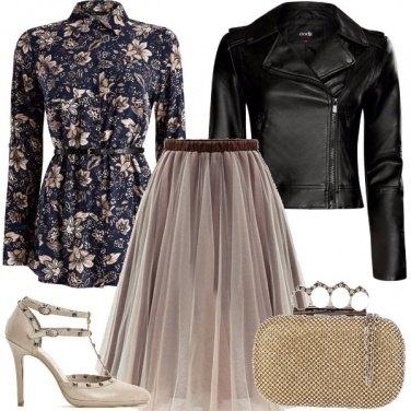 Outfit Uno stile rock per una romantica