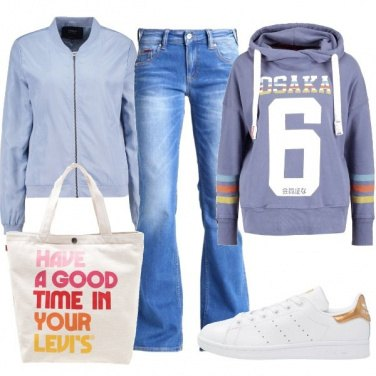 Outfit Felpa con cappuccio