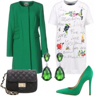 Outfit Cerimonia alternativa in verde