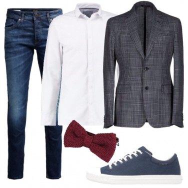 Outfit La giacca in principe di Galles