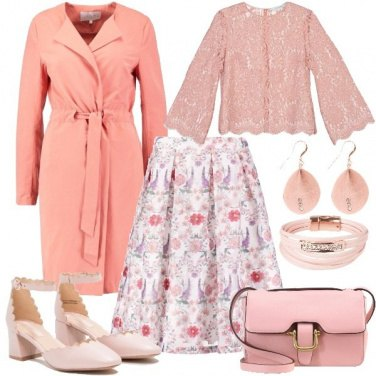 Outfit Primavera rosa romantica
