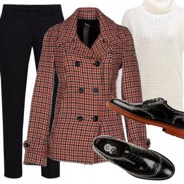 Outfit Stringate e caban
