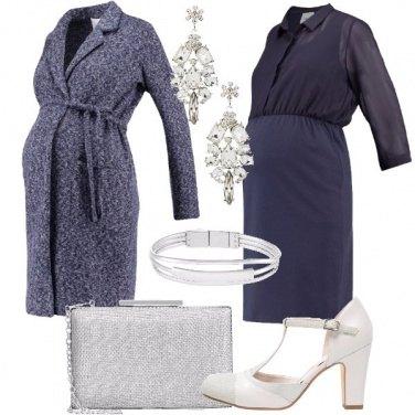 Outfit Mamma in blu e silver