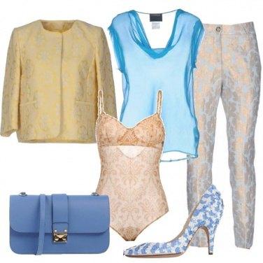 Outfit Fiori e damascati
