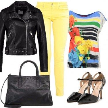 Outfit Il pantalone giallo