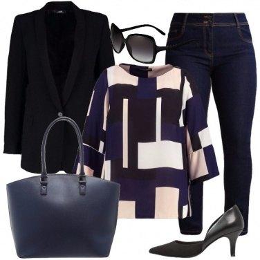 Outfit Blazer e jeans in ufficio