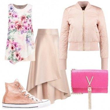 Outfit Romantica con il bomber