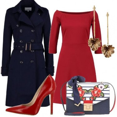 Outfit Intramontabile rosso e blu