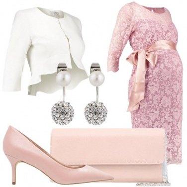 Outfit Cerimonia premaman con fiocco