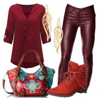 Outfit I toni del rosso