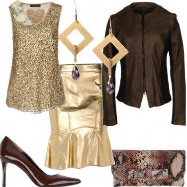 Outfit Serata dorata