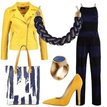 Outfit Giallo come il sole e blu come il mare