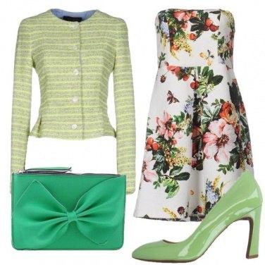 Outfit Fiori e verde