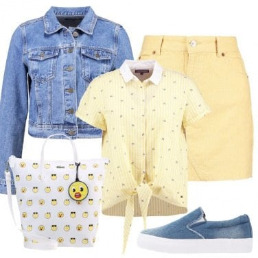 Outfit Giallo e denim