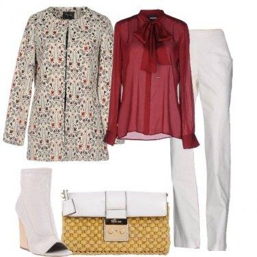 Outfit Bianco a fiori