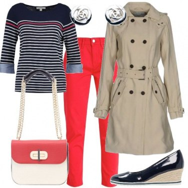 Outfit Pantaloni rossi