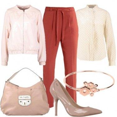 Outfit Pantaloni a vita alta