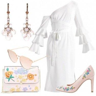 Outfit Bianco puro e fiori