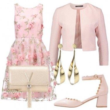 Outfit Fiorellini e oro