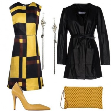 Outfit Gialle geometrie