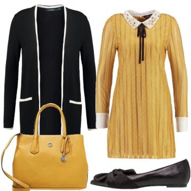 Outfit Giallo in stile collegiale