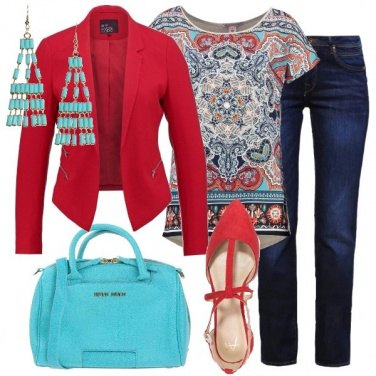 Outfit T-shirt colorata